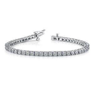 7 carats Round brilliant cut diamonds tennis brace